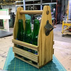 Solid Ash 6-Pack Carrying Case with bottle opener
