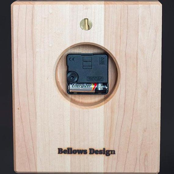 Solid Wood Clock back