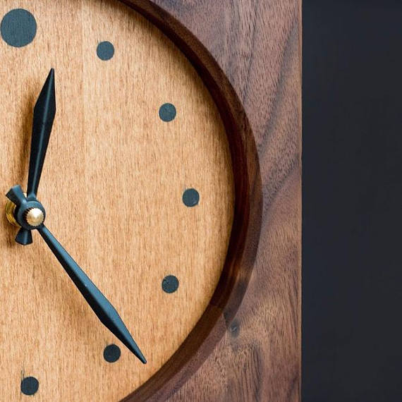 Solid Wood Clock face