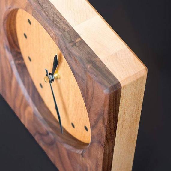 Solid Wood Clock top